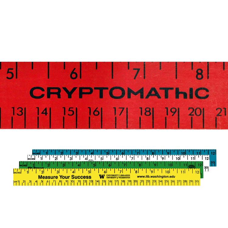 "12"" Enamel Wood Ruler - English & Metric Scale"