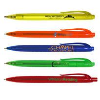Halcyon® Translucent Click Pen - CLOSEOUT