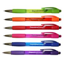 Mardi Gras Grip Pen, Blue Ink