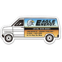 Full Color Digital Stock Shaped Magnets - Van