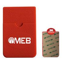 Textured Sport Phone Wallet - Basketball- Closeout