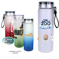 20 oz. Halcyon® Frosted Glass Bottle with Screw on Lid