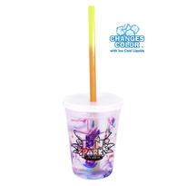 12 oz. Rainbow Confetti Mood Cup/Straw/Lid Set
