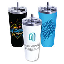 22 oz. Memphis Tumbler with Flip Top/Stainless Steel Straw Lid