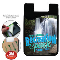 Phone Wallet with Microfiber Screen Cleaner