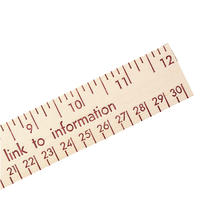 """12"""" Natural Finish Wood Ruler - English And Metric Scale"""