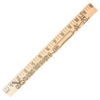 """Fire Safety """"u"""" Color Rulers - Natural Wood Finish"""