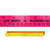 """12"""" Fluorescent Wood Ruler - English & Metric Scale"""