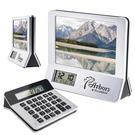 3-in-1 calculator/picture frame/digital clock