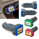 power lit dual-port 3.1a usb speed car charger