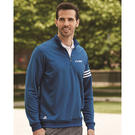 adidas a190 golf climalite 3-stripes french terry quarter-zip pullover