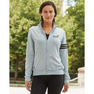 adidas a191 golf women's climalite 3-stripes french terry full-zip jacket