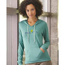 alternative 1928 women's eco-jersey™ classic hooded pullover t-shirt