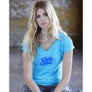 anvil 6750vl women's triblend v-neck t-shirt