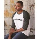 anvil 6755 triblend raglan sleeve t-shirt