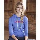 anvil 887l women's lightweight long sleeve hooded t-shirt
