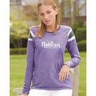 augusta sportswear 3012 women's long sleeve fanatic tee