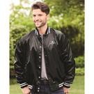 augusta sportswear 3610 satin baseball jacket striped trim