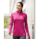 badger 4173 tonal blend women's quarter-zip pullover