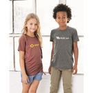 bella + canvas 3413y youth triblend jersey short sleeve tee
