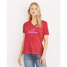 bella + canvas 6405 women's relaxed short sleeve jersey v-neck tee