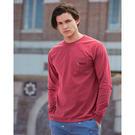 comfort colors 4410 garment dyed heavyweight ringspun long sleeve pocket t-shirt