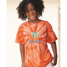 dyenomite 20bcy youth cyclone vat-dyed pinwheel short sleeve t-shirt