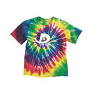 dyenomite 20bms youth multi-color spiral t-shirt
