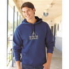 fruit of the loom sf77r sofspun® microstripe hooded pullover sweatshirt