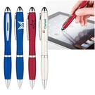 metallic curvaceous stylus gel pen