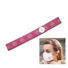 "elastic stretch headband 1"" with buttons for mask loops"
