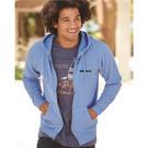 independent trading co. prm33sbz unisex special blend raglan hooded full-zip sweatshirt