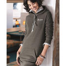 independent trading co. prm65drs women's special blend hooded pullover dress
