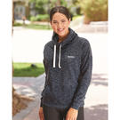 j. america 8673 women's melange fleece cowlneck pullover