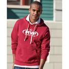 j. america 8871 triblend hooded pullover sweatshirt