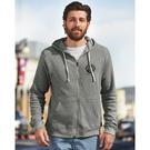 j. america 8872 triblend hooded full-zip sweatshirt