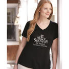 just my size jms30 women's short sleeve v-neck tee