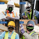 usa- 100% cotton extra large reflective tape mask