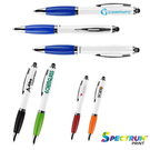 antibacterial curvaceous two-tone ballpoint stylus pen