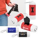 poop and light waste bag dispenser w/led flashlight