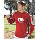 rawlings 9705 long sleeve flatback mesh fleece pullover