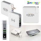 monterey 6700 mah wall adapter powerbank / wireless charger