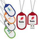 2.0 dog tag usb flash memory drive