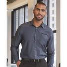 van heusen 13v0465 chambray spread flex collar shirt