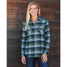 weatherproof w164761 vintage women's brushed flannel long sleeve shirt
