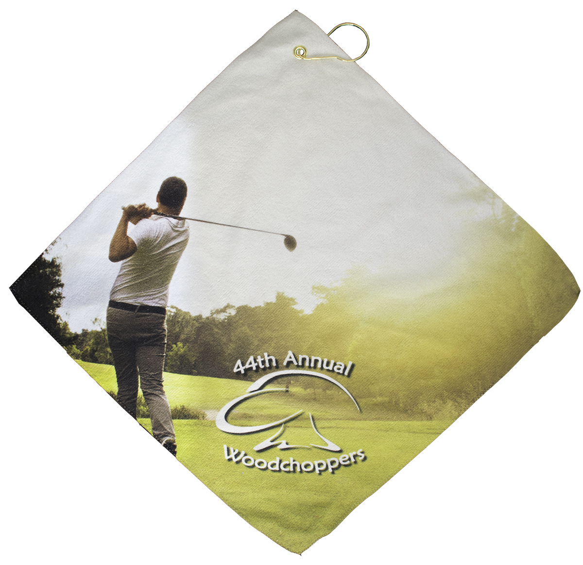Ball Pro Promotional Group Microfiber Golf Towel For Dye Sublimated Full Bleed