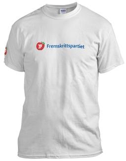 Frp T-Skjorte Hvit Unisex