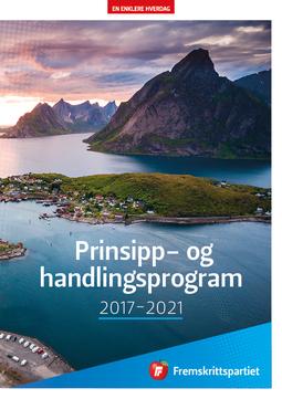 FrP Handlings- og prinsipprogram 2017-2021